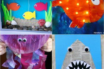 25 Adorable Ocean Animals Crafts for Kids