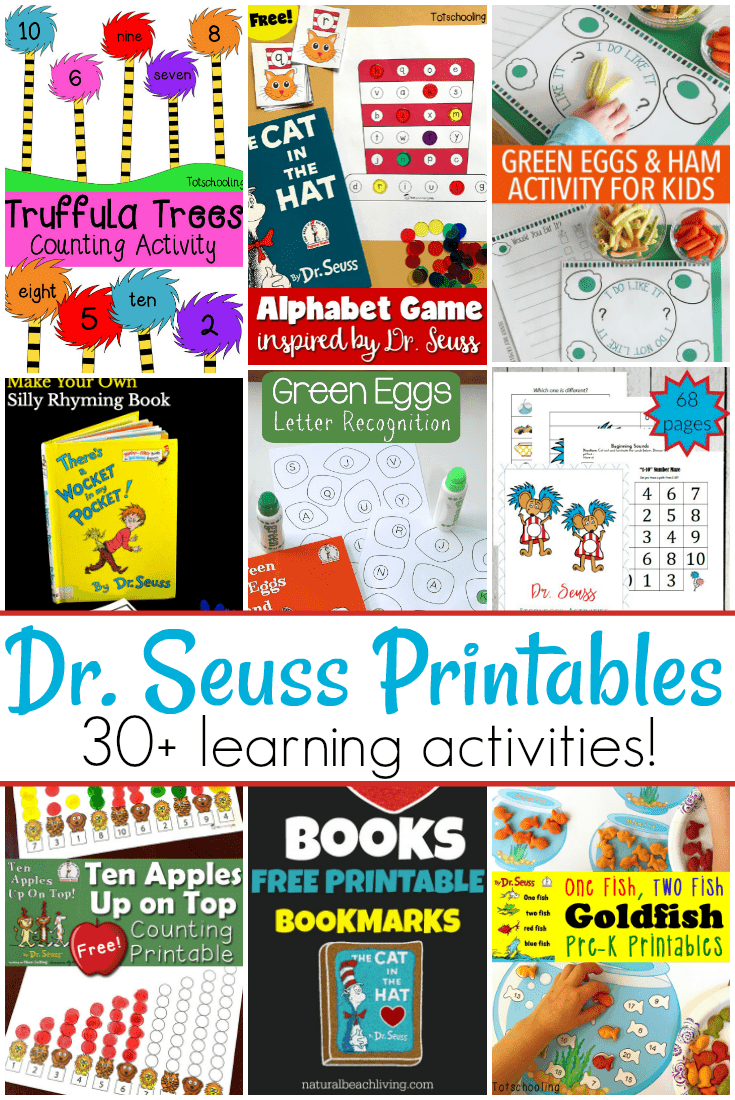 These Dr. Seuss preschool printables are the perfect addition to your homeschool preschool plans! With over 30 to choose from, you'll have a hard time choosing which one to do first!