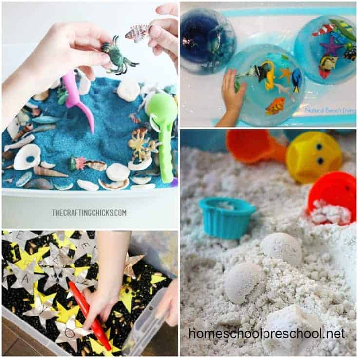 36 Summer Sensory Bins for Preschoolers