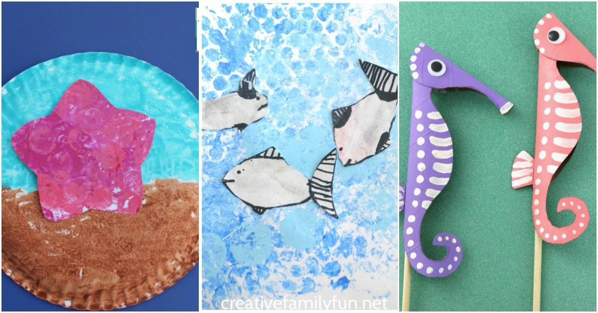 Whether you're planning a trip to the beach or just dreaming about one, this collection of adorable ocean animal crafts is sure to be a hit with your kids this summer!
