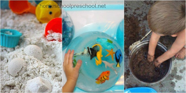 Encourage sensory exploration this summer by creating these awesome sensory bins this summer! Themes include oceans, gardens, and so much more!
