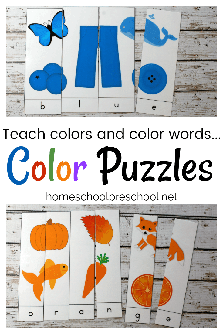 photo about Color Words Printable identified as 10 Printable Coloration Term Puzzles for Early Pupils