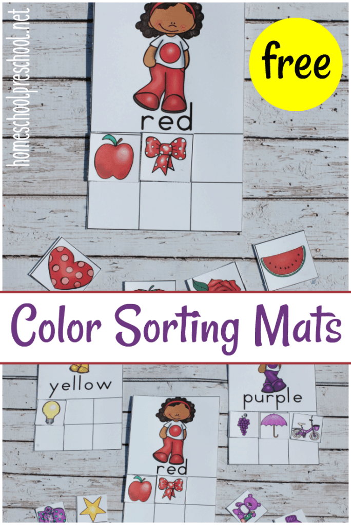These free color sorting mats are the perfect tool for helping preschoolers learn their colors!