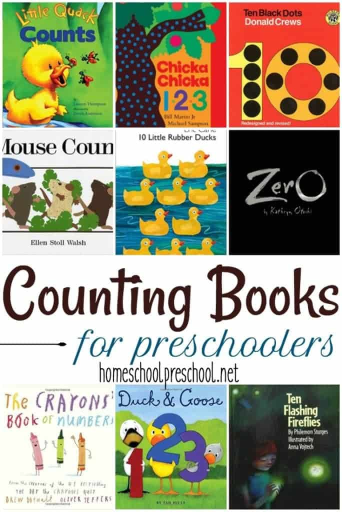 No early learning environment is complete without a wide variety of counting books for preschoolers. Here's a great list to get your collection started.