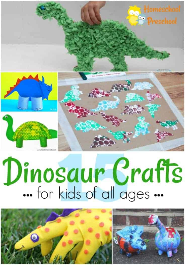 17 easy and fun dinosaur crafts for kids of all ages for Dinosaur crafts for toddlers