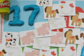 Farm-Themed Preschool Counting Mats