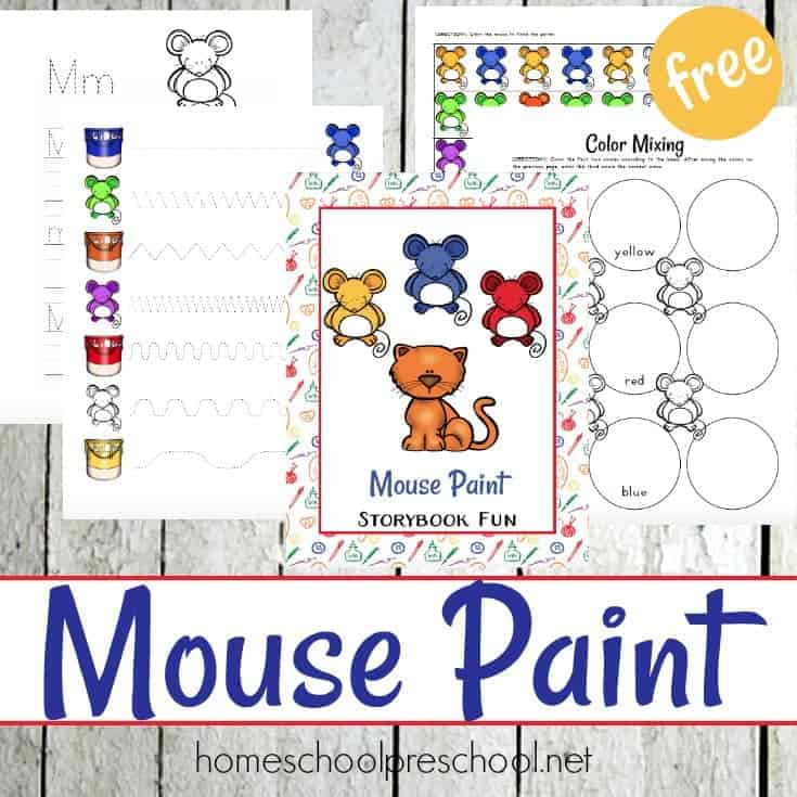 Mouse Paint Preschool Activities
