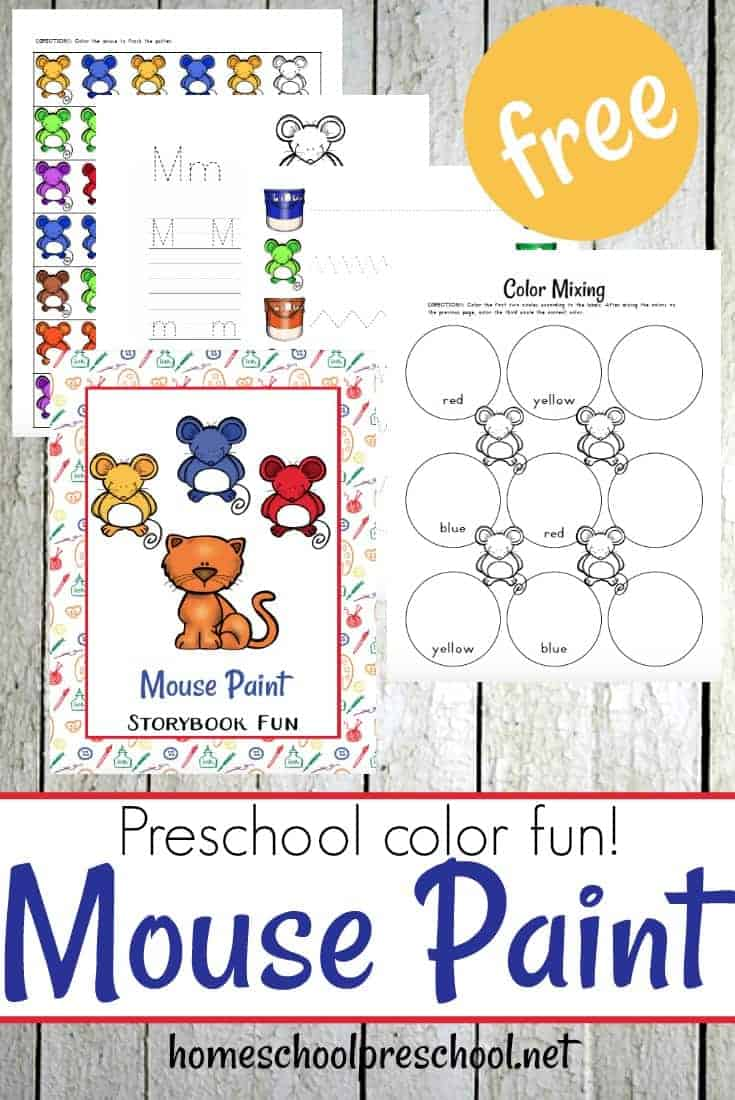 Come read Mouse Paint by Ellen Stoll Walsh complete these MOUSE PAINT PRESCHOOL printables and activities.
