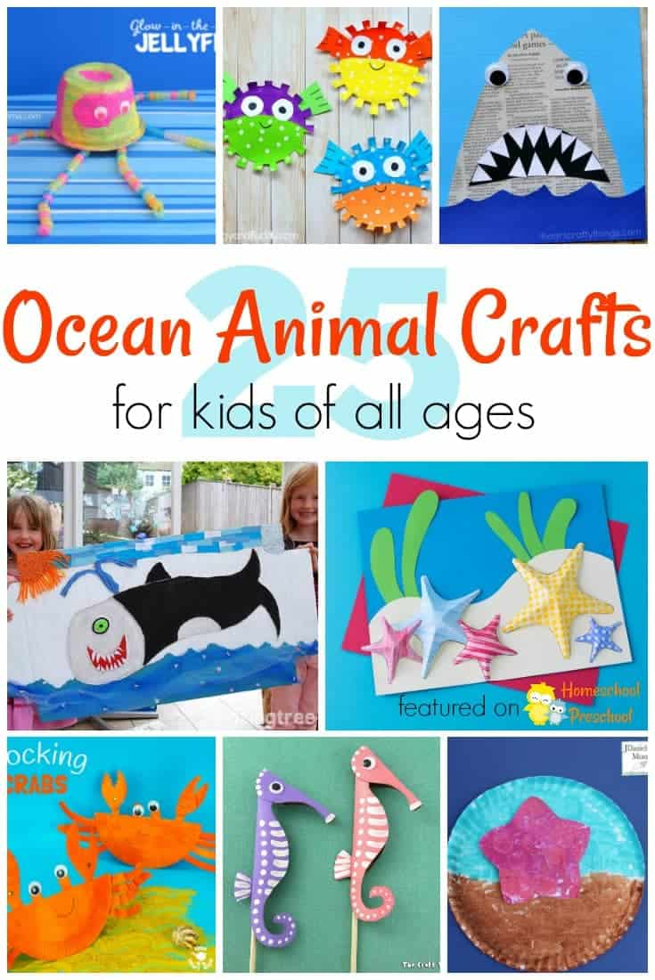 25 adorable ocean animals crafts for kids of all ages for Art and craft books for kids