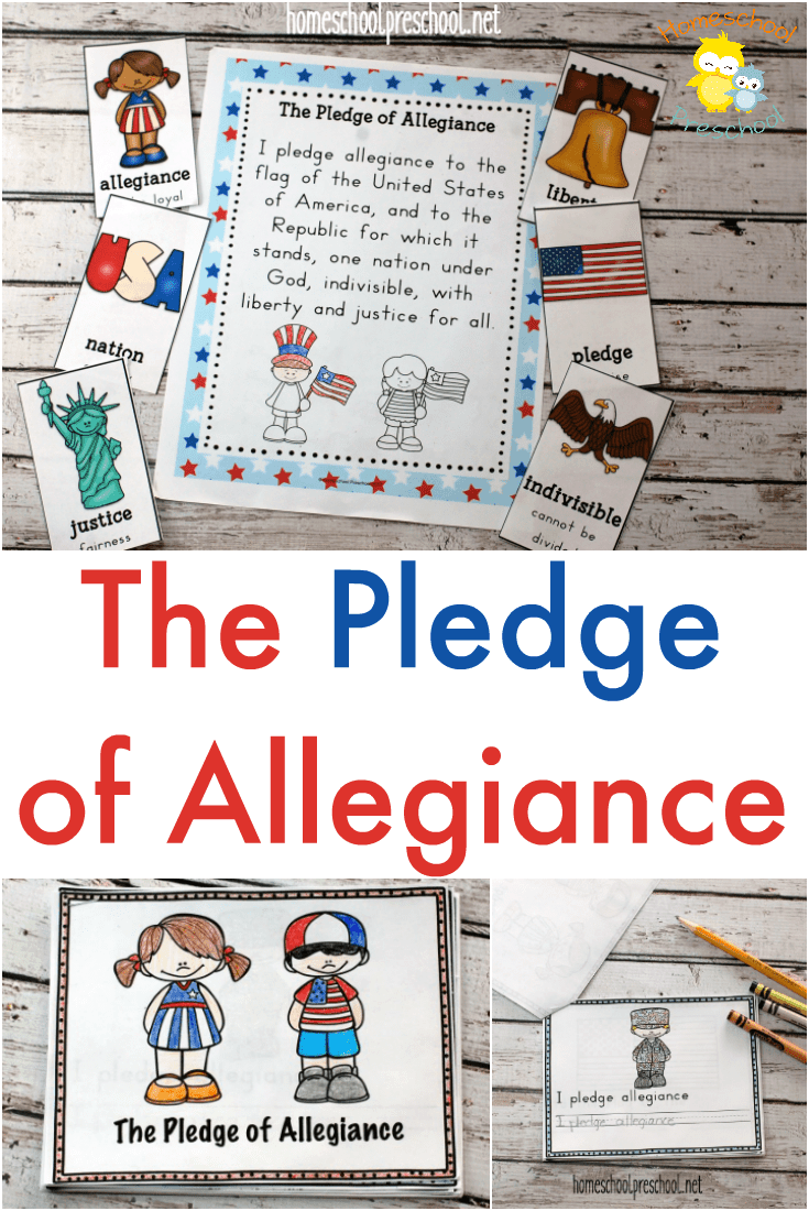 Teach young learners what the Pledge of Allegiance means with this printable! It contains an anchor chart, vocabulary cards, and a mini-book!