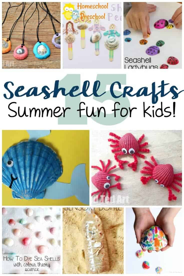 15 Sensational Beach Themed Seashell Crafts For Kids