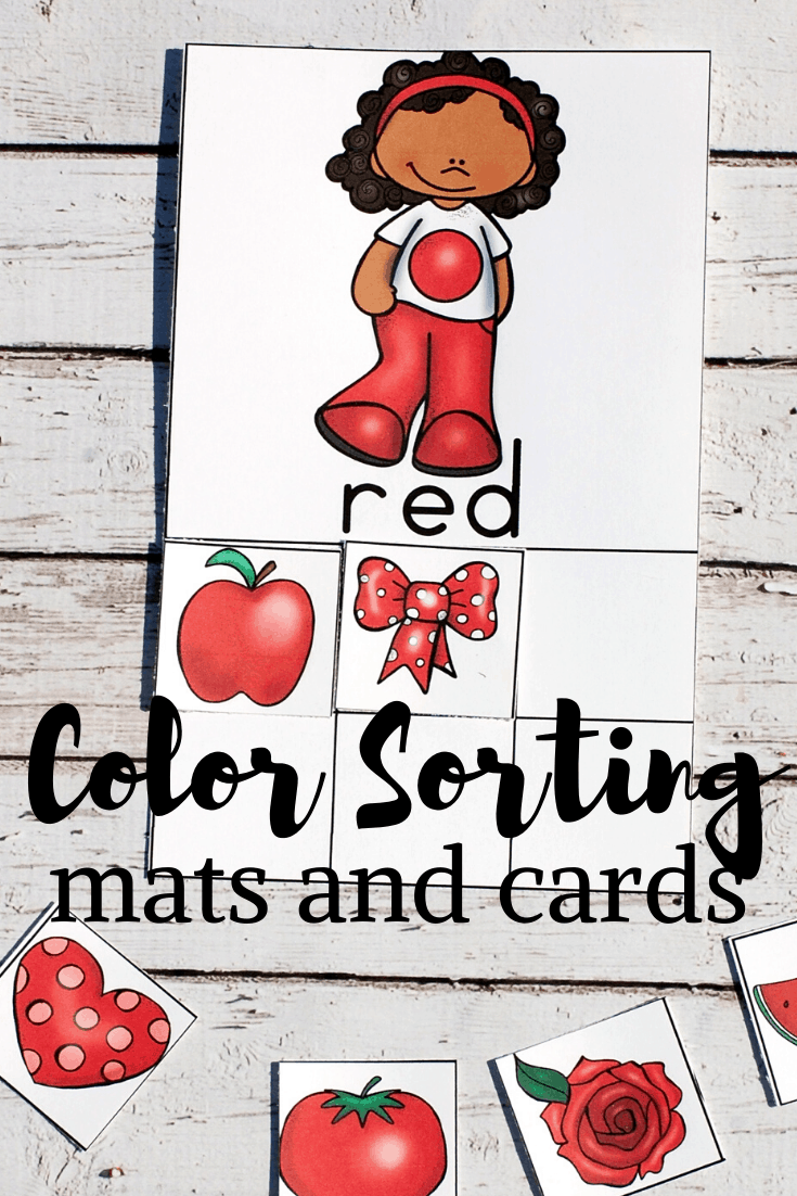 Color sorting made easy! These free printable color sorting matsare the perfect resource for helping preschoolers learn their colors!