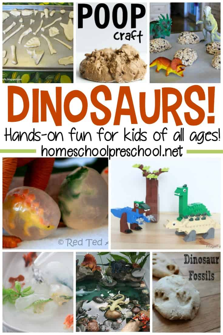 Dinosaurs are always a hit with preschoolers! These hands on dinosaur activities are sure to make your little ones roar with delight!