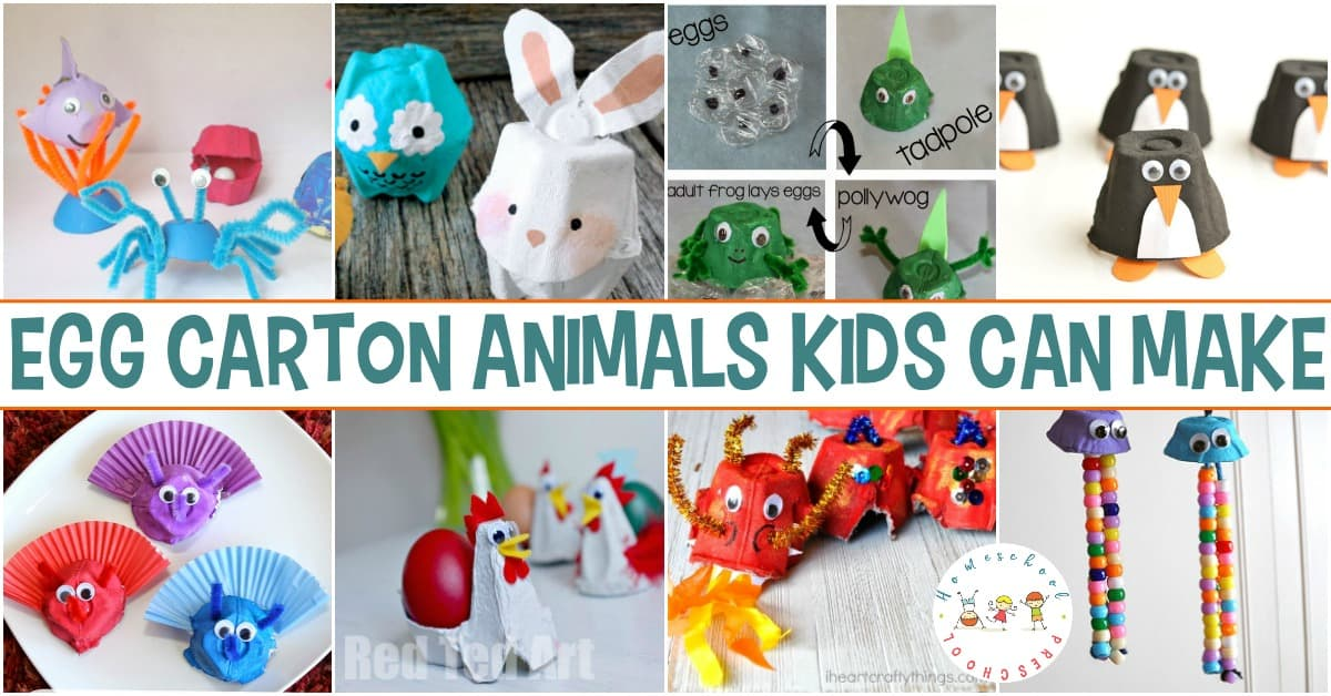 Recycled products make the best art projects. Here are 30 egg carton animals your kids will enjoy making during their next craft time!