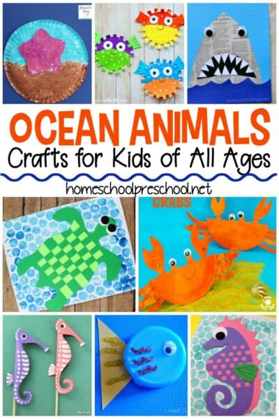 Planning a trip to the beach or dreaming about one? This collection of adorable ocean animal crafts is sure to be a hit with your kids this summer!