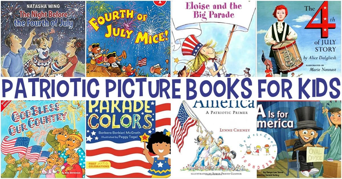Celebrate the 4th of July with a basket full of patriotic picture books! Each book in this collection will help you and your little one celebrate our nation!