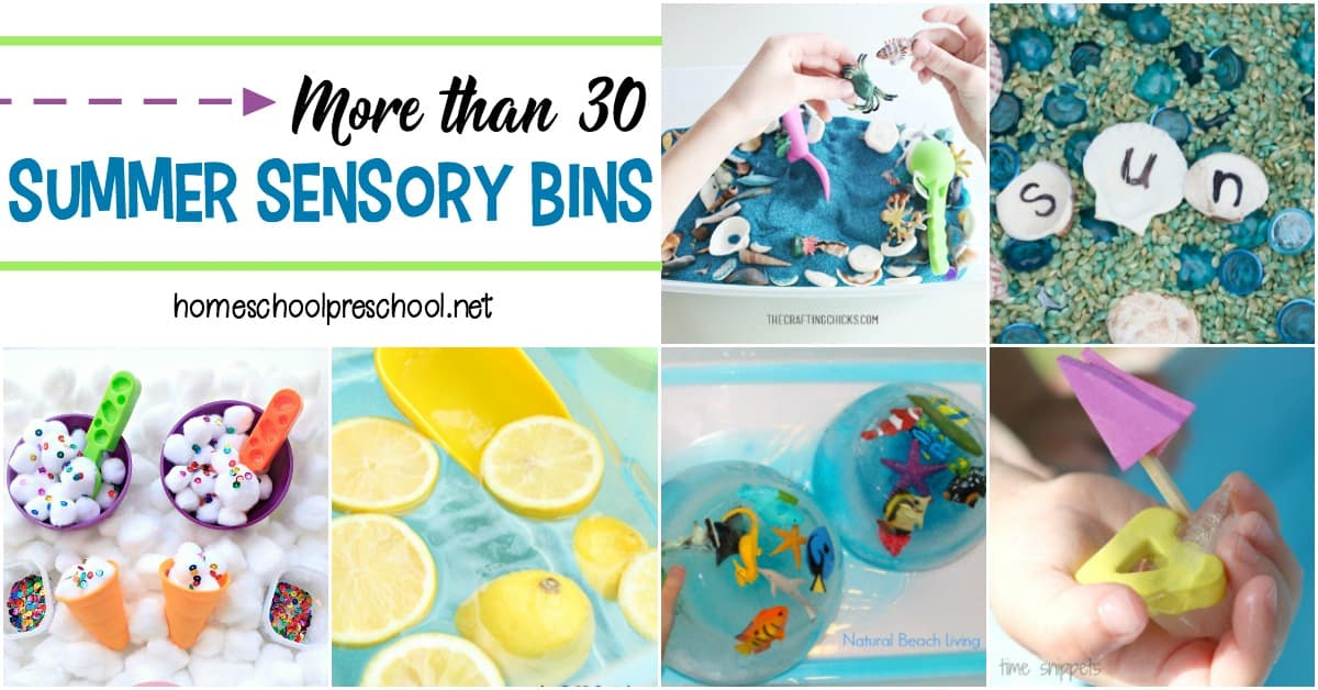 Encourage sensory exploration this summer by creating these awesome summer sensory bins! Themes include oceans, gardens, and so much more!