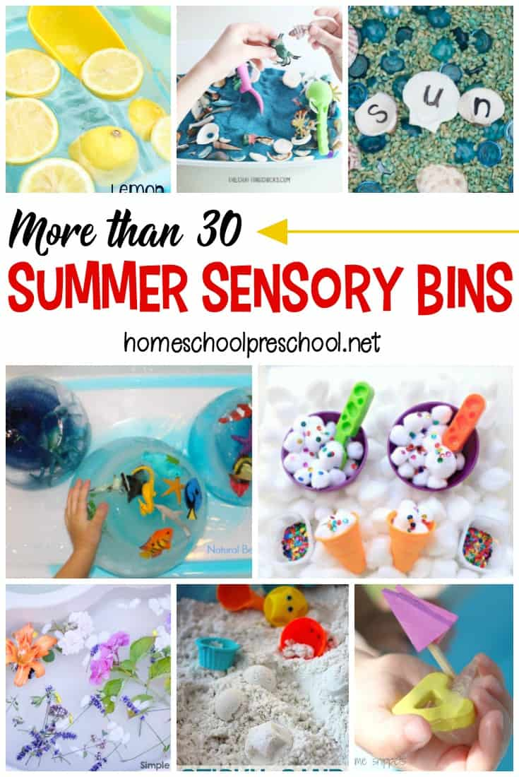More Than 30 Summer Sensory Bins for Preschoolers