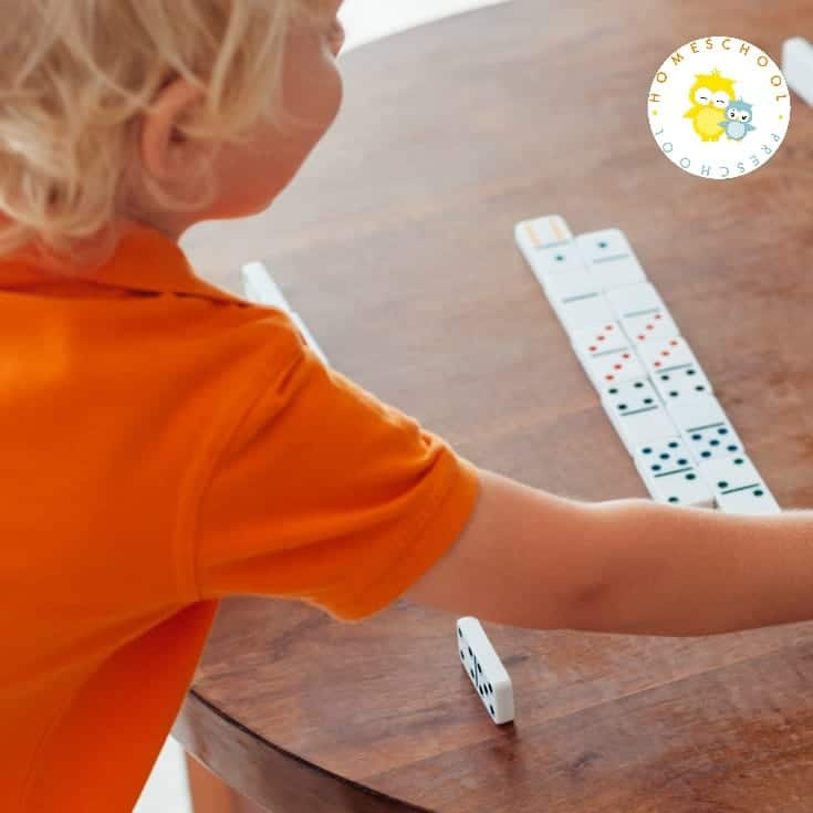 There are many math skills you can teach with dominos. Grab a box and come discover six simple domino math ideas for kids.