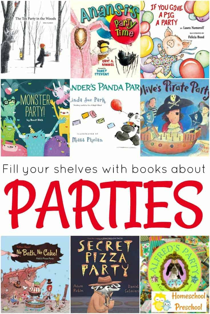 Have you noticed how much preschoolers adore parties? Here are 9 delightful children's books about parties to read with your children.