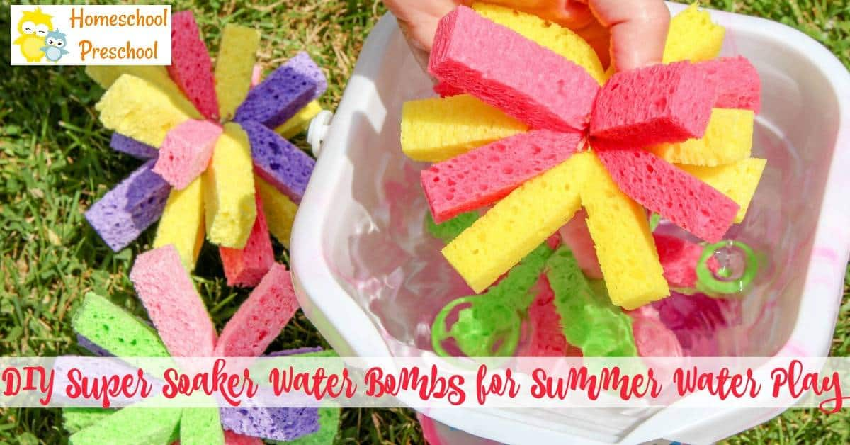 Have you ever made sponge bombs with your kids? If not, check out the super simple tutorial below and get ready for an amazing afternoon of summer fun!