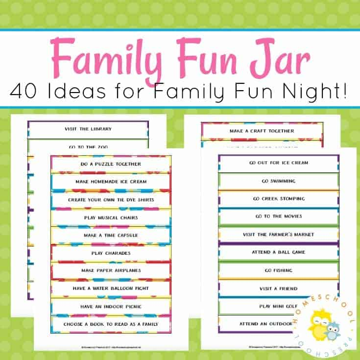 A family fun jar is easy to make and will take all the guesswork out of deciding what you should do for family fun nights.