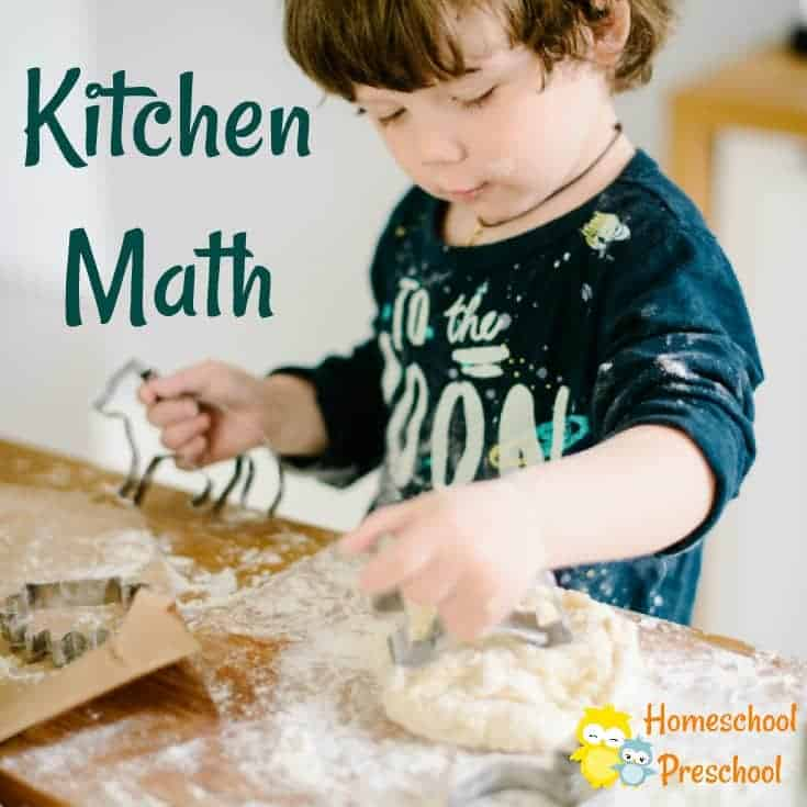 Preschoolers adore baking, cooking, and mixing up a batch of cookies to eat. I know my own kids never get enough of the kitchen, which makes kitchen math fun for kids !