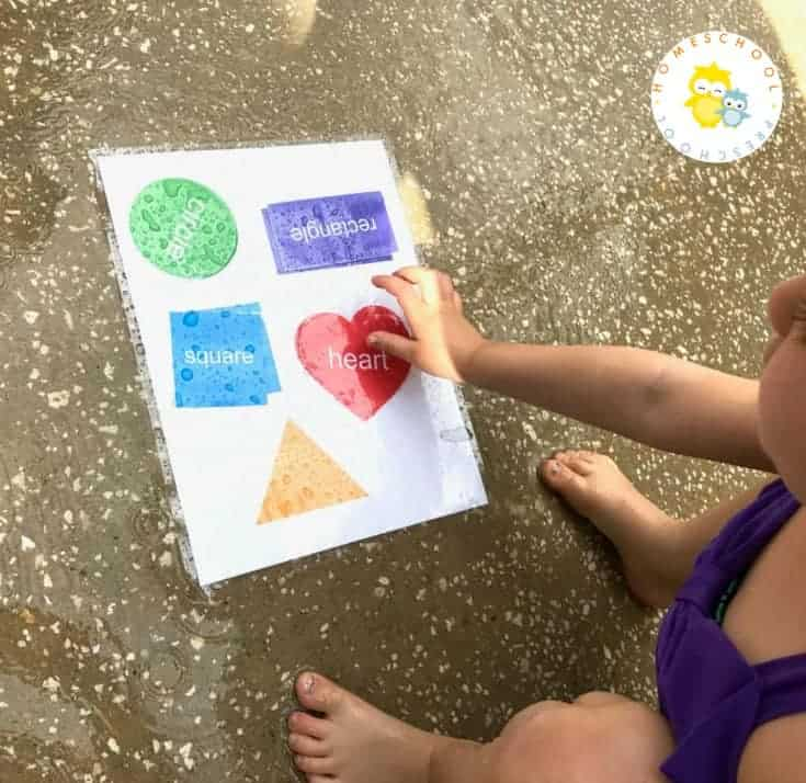 Summer is in full swing and it's time to have fun with water! This sprinkler shape match activity is a great way to get outside, learn, and stay cool!