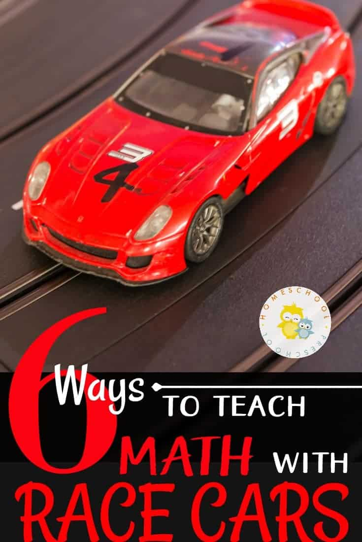 If your kids love race cars, why not use what they are interested in to teach math skills? Come discover how to teach math with race cars!