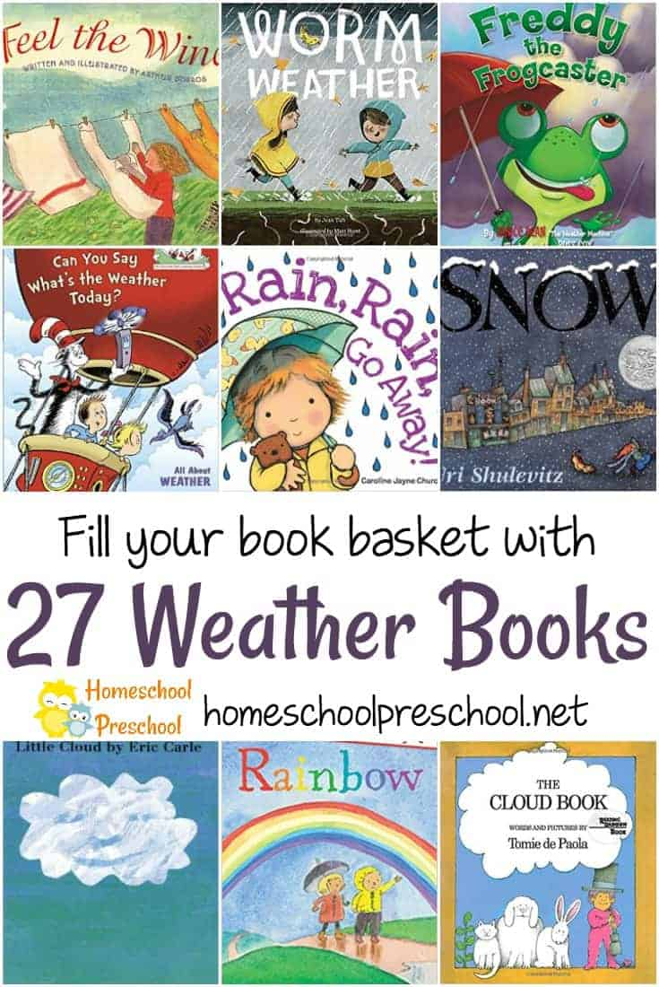 Learning about weather is a favorite activity for kids of all ages! Here are some of our favorite preschool books about weather.