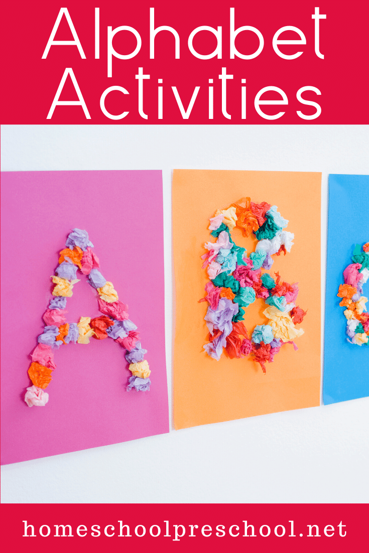 Each one of these alphabet activities featured will help teach, reinforce, or review the letters of the alphabet. Many focus on beginning sounds, as well.