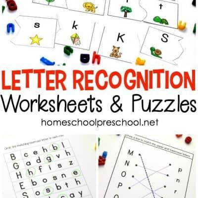 Letter Recognition Alphabet Worksheets for Preschool