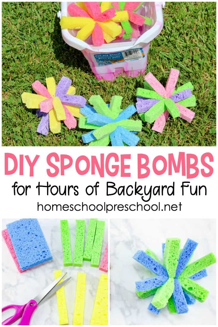 Have you ever made sponge water bombs with your kids? If not, check out this super simple tutorial, and get ready for an amazing afternoon of summer fun!