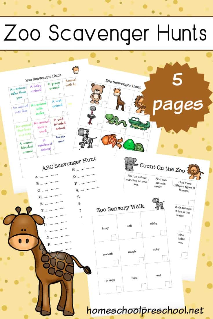 graphic regarding Printable Scavenger Hunt for Kids called Zoo Scavenger Hunt Printables Your Small children Will Take pleasure in