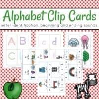 Printable Alphabet Clip Cards
