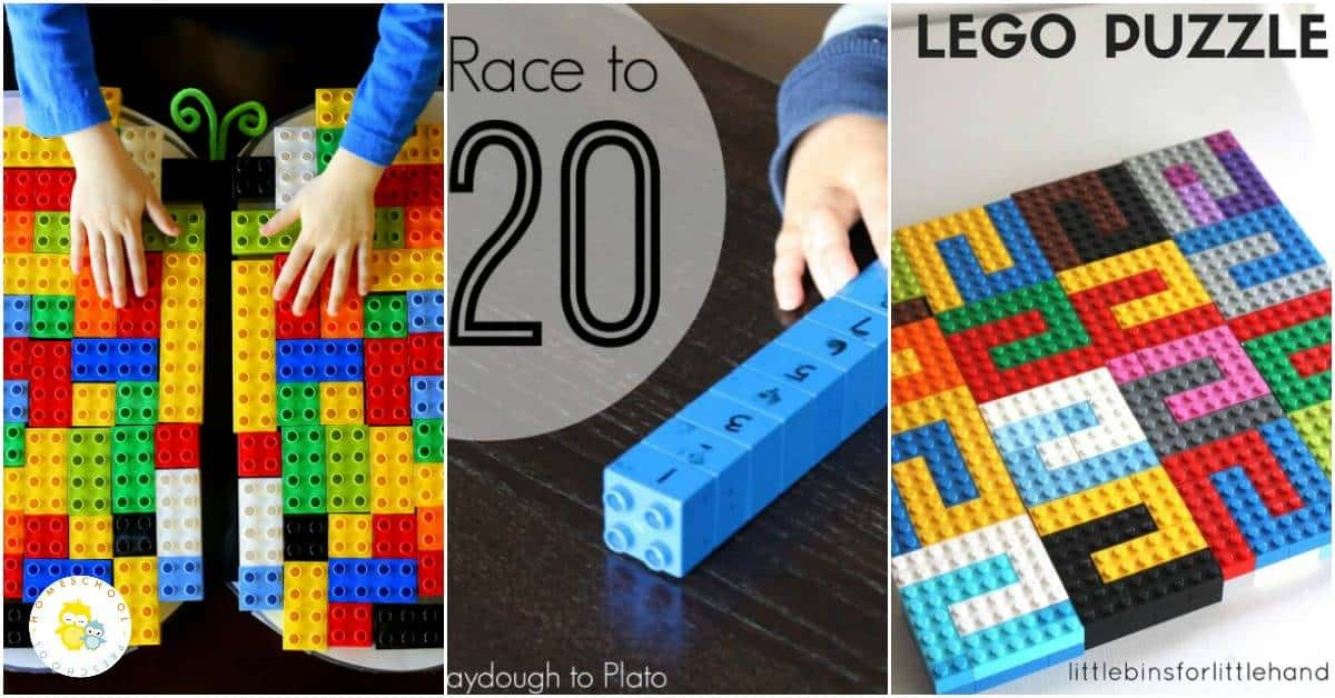 Today, I'm featuring 20 amazing LEGO math ideas. Hands-on activities focus on counting, beginning addition and subtraction, and much more!