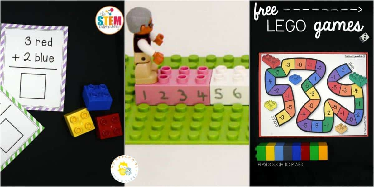 Today, I'm featuring 20 amazing LEGO math ideas. These hands-on activities focus on number identification, counting, beginning addition and subtraction, and much more!