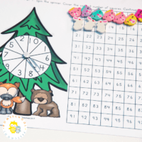 Counting to 100 with a Forest Hundreds Chart