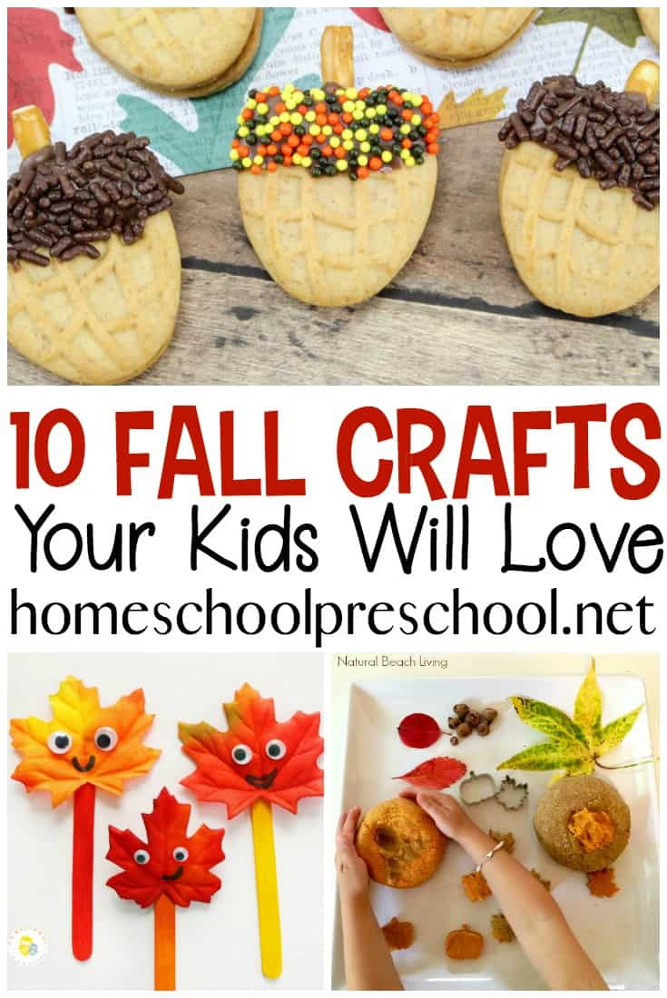 Fall is just around the corner! Woohoo! You have to check out these amazing fall crafts for preschool aged kids. Which one will you try first?