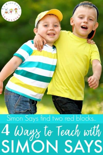 Discover how to play Simon Says with preschoolers! You won't believe how easy it is to teach basic skills while playing this fun game!