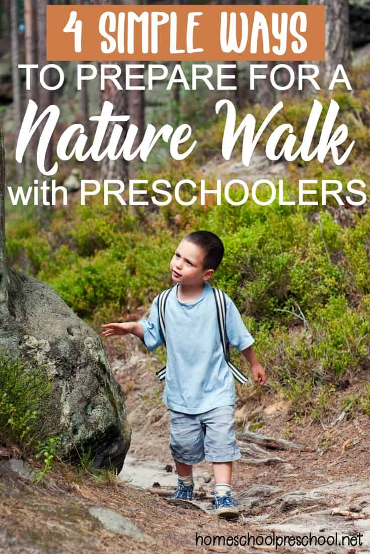 Do your preschoolers love being outdoors? Do they love exploring nature? If so, they're sure to love taking a nature walk with you. Don't forget to print out your scavenger hunts before you go.