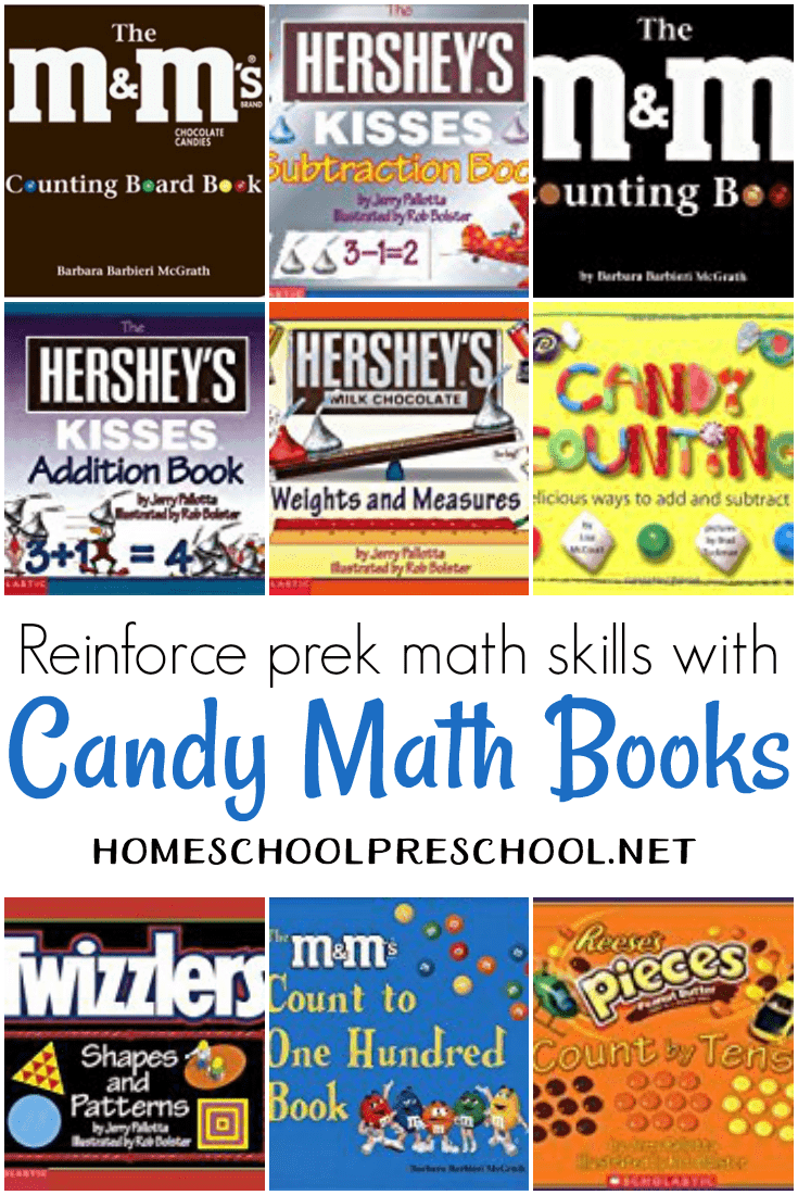 Candy math books make math fun for both preschoolers and parents. After all there's nothing more awesome than eating your math lesson as you learn!