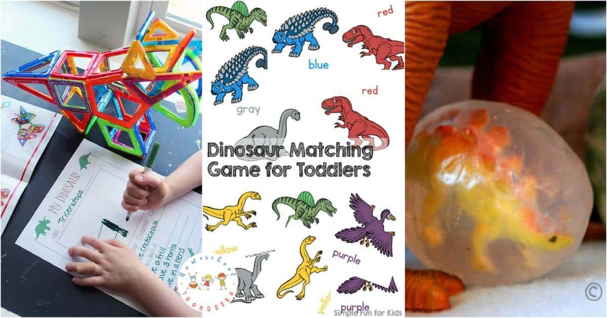 If you have a preschooler that is just as interested in dinosaurs, why not take that interest and turn it into a dinosaur preschool theme in your homeschool!