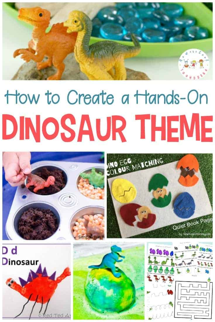 the very best hands on activities for a dinosaur preschool theme
