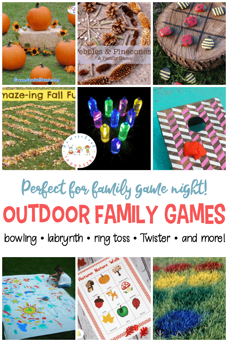 These fun outdoor family games are perfect for your next family game night, neighborhood block party, or just an relaxing afternoon with the kids!