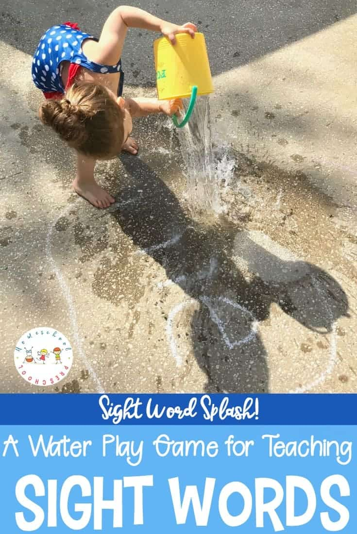Need a fun, hands-on way to teach sight words to your preschoolers and kindergarteners? Sight Word Splash is a fun water play activity to teach or review words.