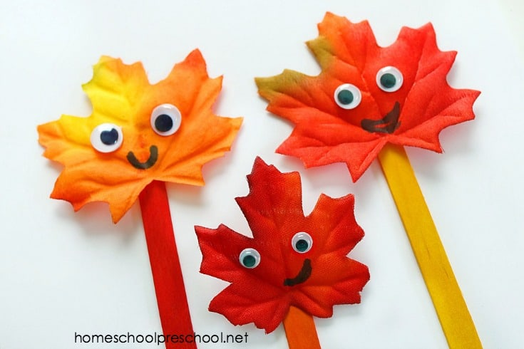 How to Make a Fall Leaf Family: Simple Leaf Craft for Kids