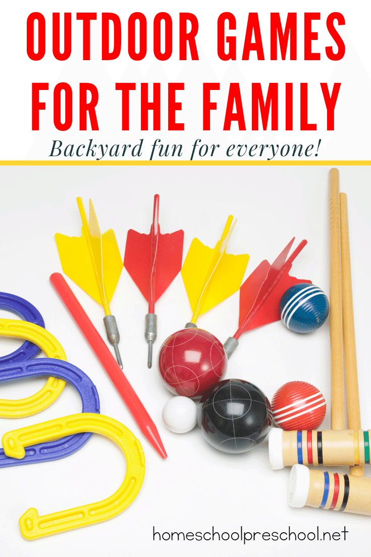 These fun outdoor family games are perfect for your next family game night, neighborhood block party, or just a relaxing afternoon with the kids!