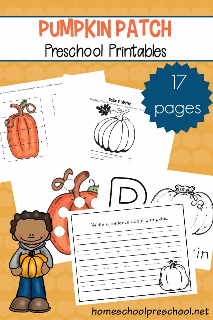 picture regarding Fall Printable Activities referred to as Pumpkin Patch Printable Actions for Preschoolers