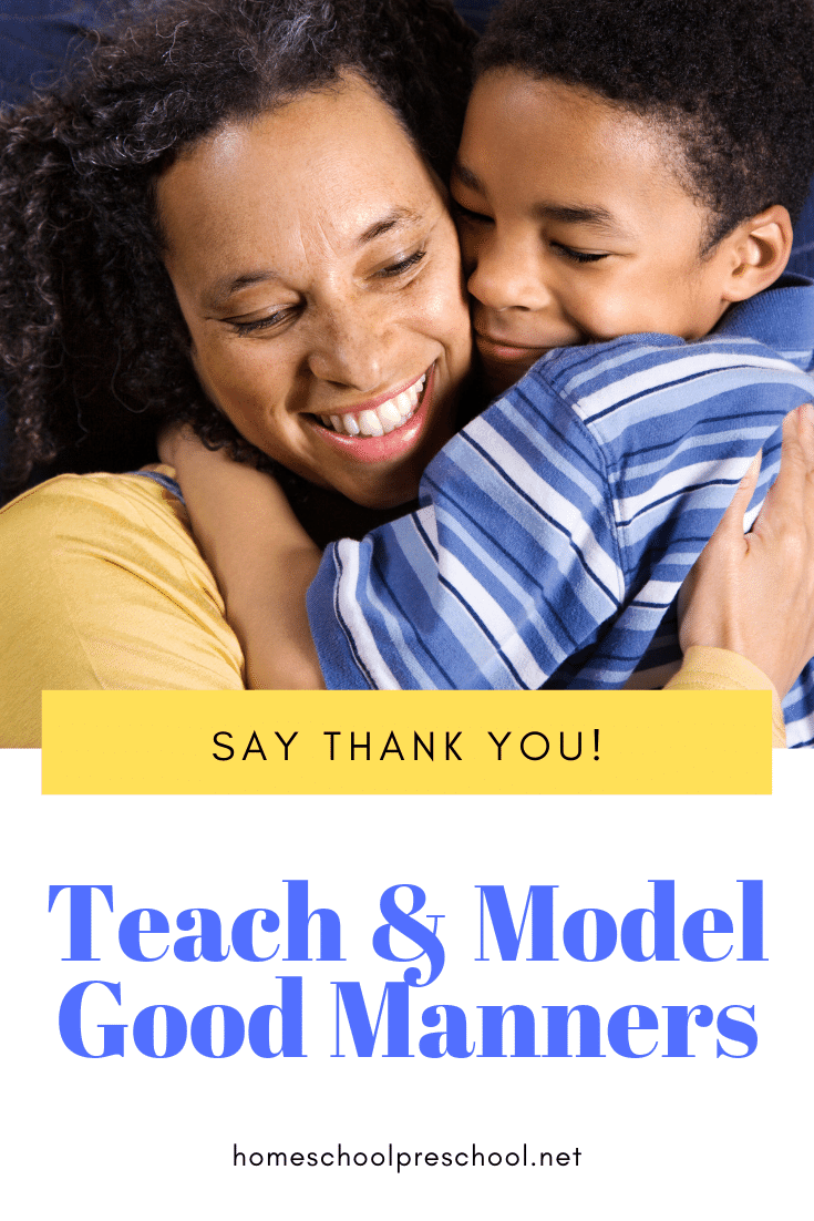 "I melt with shame every time my preschoolers forget to say, ""Thank you!"" It's such a simple phrase, but preschoolers must be taught how to say thank you."